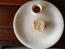French toast for breakfast.  Royalty Free Stock Photography