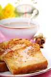 French toast for breakfast. Royalty Free Stock Photos
