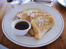French toast for breakfast. In Maui, Hawaii Royalty Free Stock Image