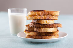 French Toast on Breakfast Table Royalty Free Stock Photography