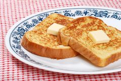 French toast with butter Royalty Free Stock Image