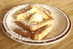 French toast with butter Royalty Free Stock Images