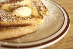French toast with butter Stock Image