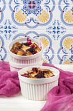 French toast casserole with cranberries, raspberries and blackbe Royalty Free Stock Photos
