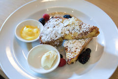 French Toast Closeup Stock Photography
