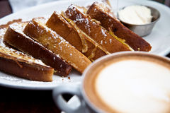French toast and coffee Royalty Free Stock Photo