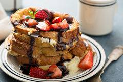 French toast with coffee and mascarpone Stock Image