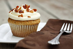 French Toast Cupcakes with Maple Frosting Stock Photography