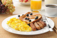French toast and egg breakfast Stock Photos