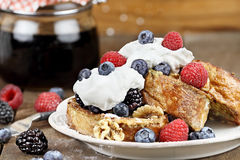 French Toast and Fresh Berries Stock Image