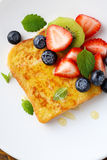 French toast with fresh berries Stock Photo