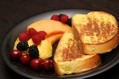 French toast and fruit Royalty Free Stock Images