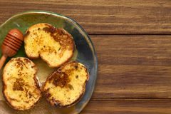 French Toast with Honey Royalty Free Stock Photos