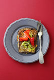 French toast with kiwi on plate Stock Photography