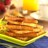 French Toast with Maple Syrup Royalty Free Stock Photography