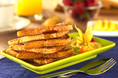 French Toast with Maple Syrup Stock Photography
