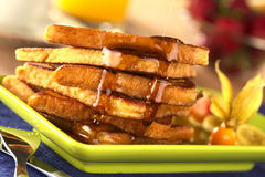 French Toast with Maple Syrup Royalty Free Stock Photo