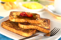French Toast with Maple Syrup Royalty Free Stock Image
