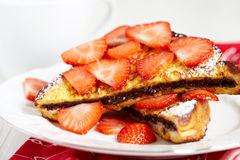 French toast with nutella Stock Photography