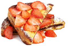 French toast with nutella Royalty Free Stock Image