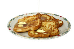 French Toast Over White Stock Image