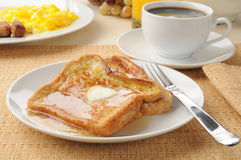 French toast with sausage and eggs Stock Photography
