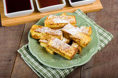 French toast sticks with syrups Stock Photography