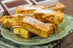 French toast sticks with syrups Stock Images