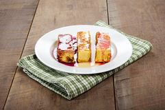French toast sticks with syrups Royalty Free Stock Photos