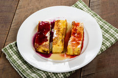 French toast sticks with syrups Royalty Free Stock Photography