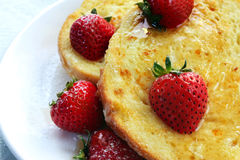French Toast with Strawberries royalty free stock image