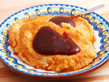 French toast with strawberry jam Stock Images