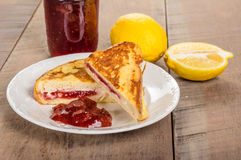 French toast stuffed with cream cheese and strawberry jelly Royalty Free Stock Image