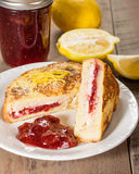 French toast stuffed with cream cheese and strawberry jelly Royalty Free Stock Photo