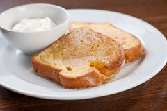 French toast with yogurt Stock Image
