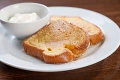 French toast with yogurt Stock Image