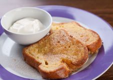 French toast with yogurt Stock Photography