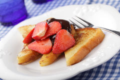 French toasts with strawberry Stock Photography