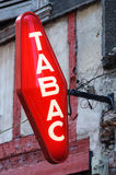 French tobacconist sign Stock Photography