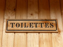 French Toilet sign Royalty Free Stock Images