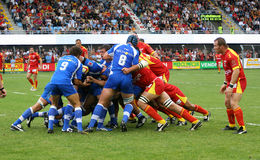 French Top 14 Rugby - USAP vs Montpellier HRC Stock Images