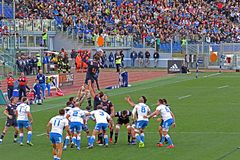 France touche. A french touche in the rbs six nations match italy vs france played at rome. 11/3/17 Royalty Free Stock Images