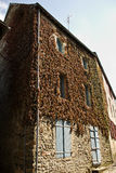 French town house. A leaf covered French town house stock photos