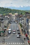 French town Pau against the remote mountains Royalty Free Stock Images