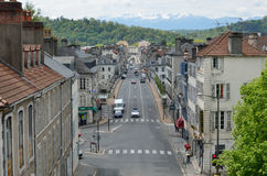 French town Pau against the winter Pyrenees Royalty Free Stock Images