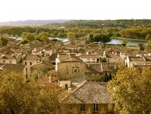 French Town. View of a small French town from a vantage point Royalty Free Stock Images