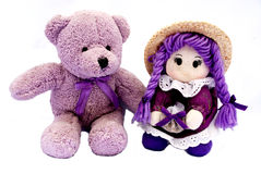 French toys in violet Stock Image