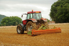 French Tractor Ploughing stock photography