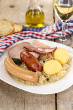 French traditional cabbage meal choucroute Royalty Free Stock Photo