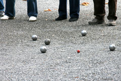French traditional game (petanque) Royalty Free Stock Images